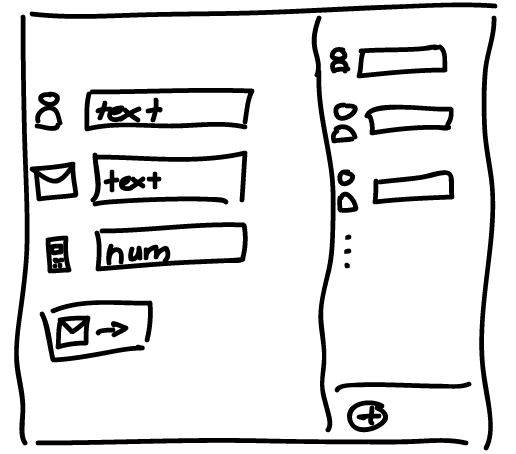 video chat interface sketch example